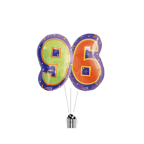Big 96th Birthday Numbers