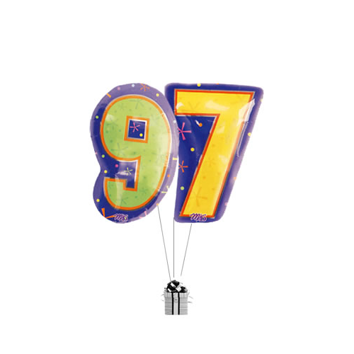 Big 97th Birthday Numbers