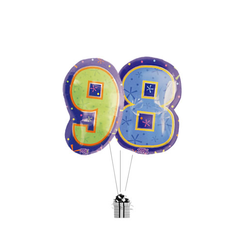 Big 98th Birthday Numbers