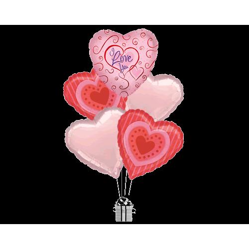 Love You Swirls & Cookie Hearts