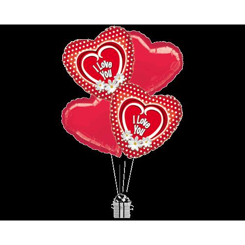 Daisy Love Hearts