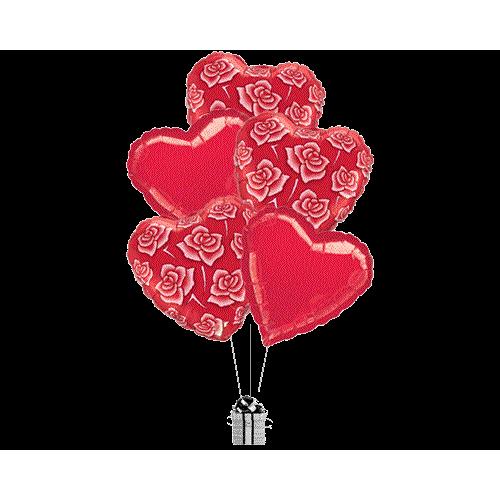 Beautiful Rose Hearts