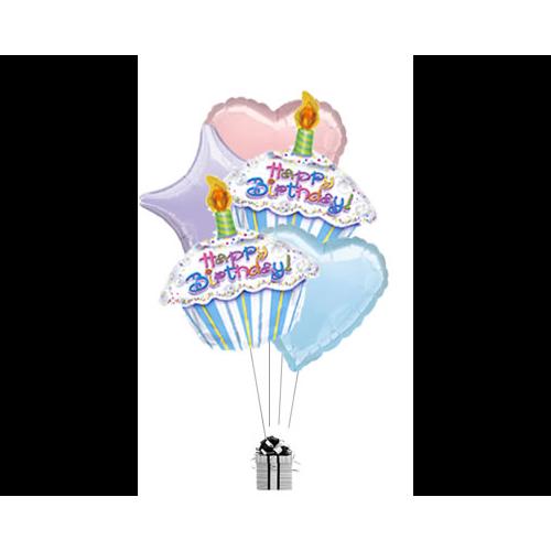 Happy Birthday Cake Pastel Bouquet