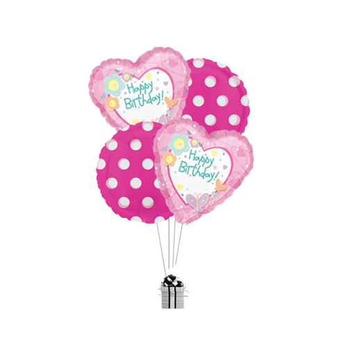 Happy Birthday Personalised Heart Bouquet