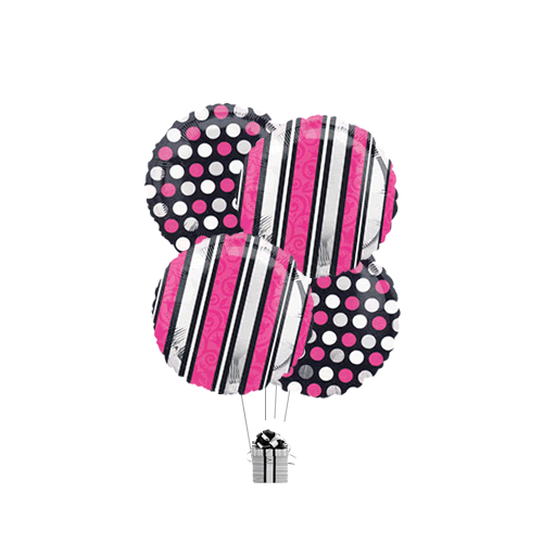 Pink & Black Stripes & Dots