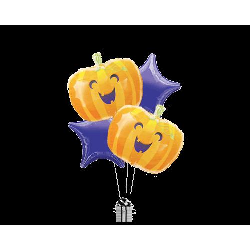 Laughing Cheeky Pumpkin Stars