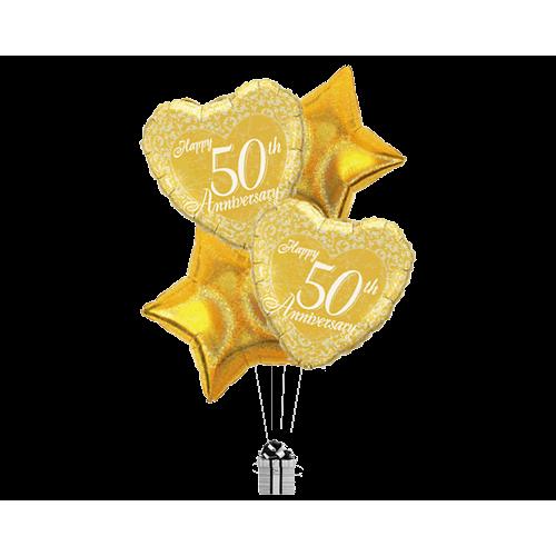 Golden Anniversary Hearts & Stars
