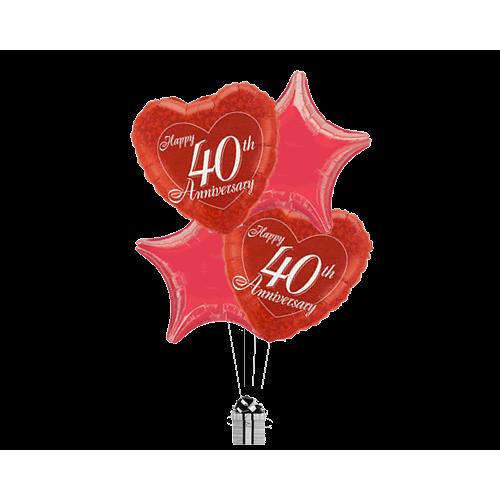 Red Ruby Anniversary Stars