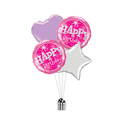 Birthday Pink Stars