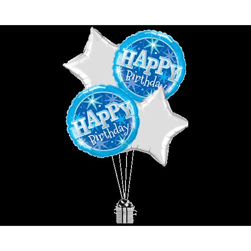 Birthday Blue Stars