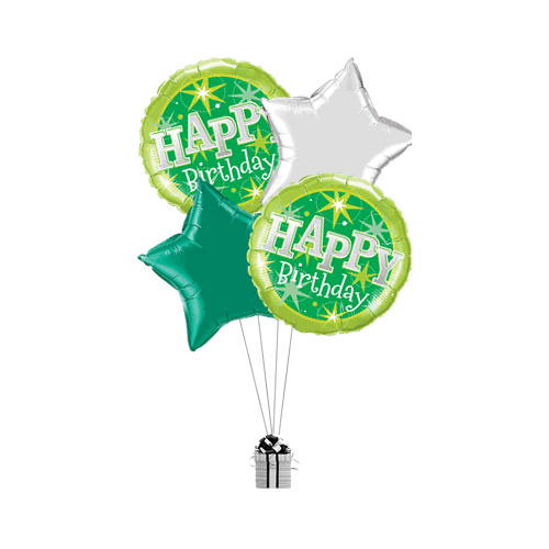 Birthday Green Stars