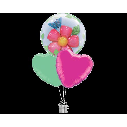 Butterfly Flower Bubble