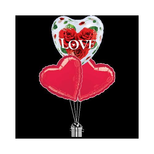 Love Roses Bubble Hearts