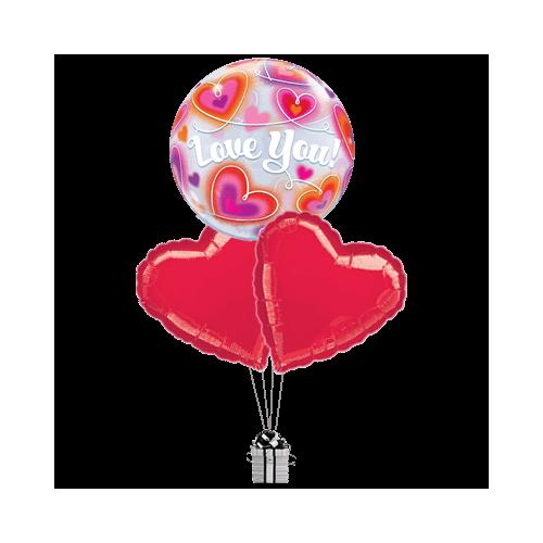 Doodle Love You Bubble Hearts