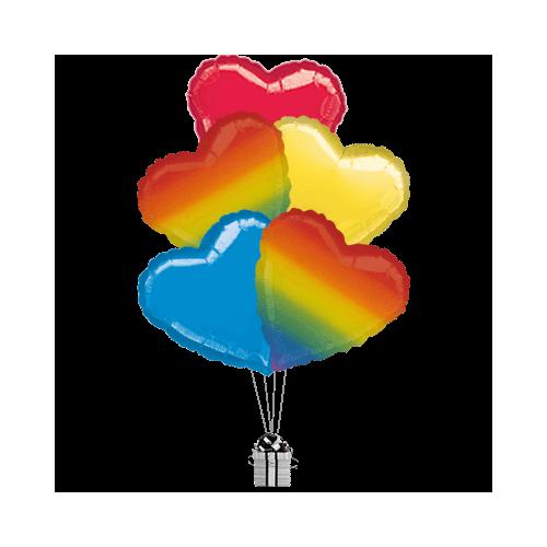 Rainbow Love Hearts Mix