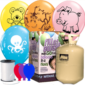 Animal Latex Balloon Party Pack