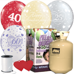 Anniversary Latex Balloon Pack Product Display