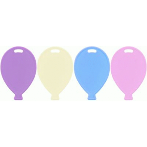 100 Single Balloon Shape Weights Pastel Mix Product Display