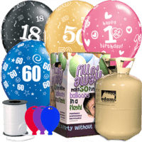 Birthday Age Latex Balloon Pack