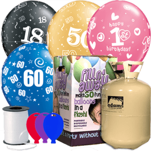 Birthday Age Latex Balloon Pack Product Display