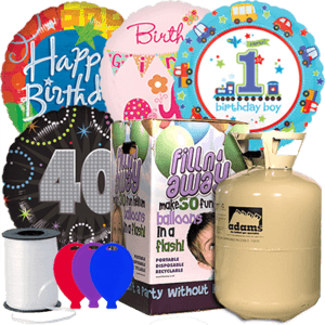 Birthday Foil Balloon Party Pack Product Display