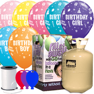Birthday Boy or Girl Latex Balloon Party Pack Product Display