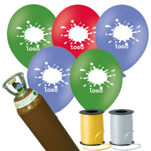 400 Printed Latex Balloons Pack