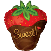 Sweet Dipped Strawberry Shape Balloon in a Box