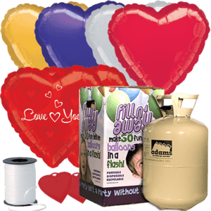 Romance & Love Themed Foil Balloon Pack Product Display