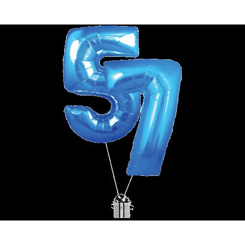 Blue 57 Big Numbers