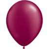 "11"" Custom Printed Luxury Pearl Burgundy Latex Balloons overview"