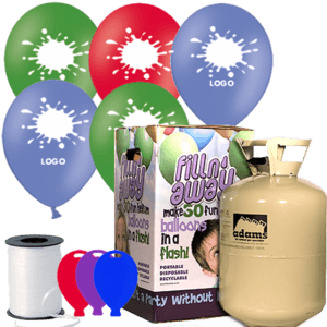 Small Printed Latex Balloon Pack Product Display